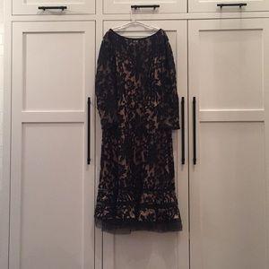 Tadashi Shoji Fit and Flare Patterned Dress